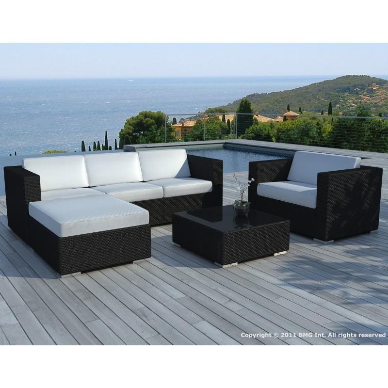 table de jardin tresse noir
