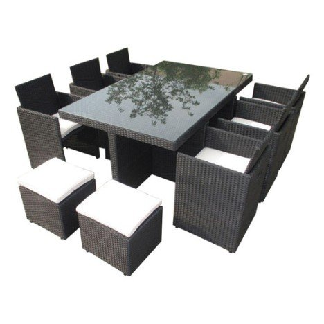 table de jardin tresse