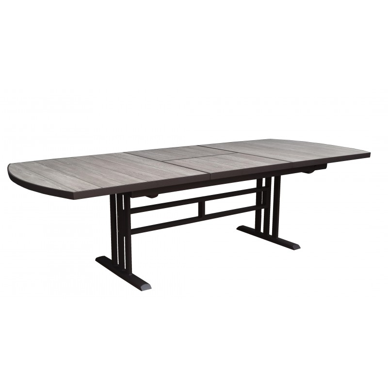 table de jardin twig rectangulaire en hpl