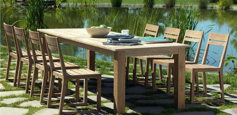 Awesome Table Jardin Teck Unopiu Contemporary - House Design ...