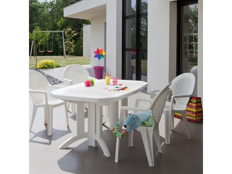 table de jardin vega 165×100 grosfillex