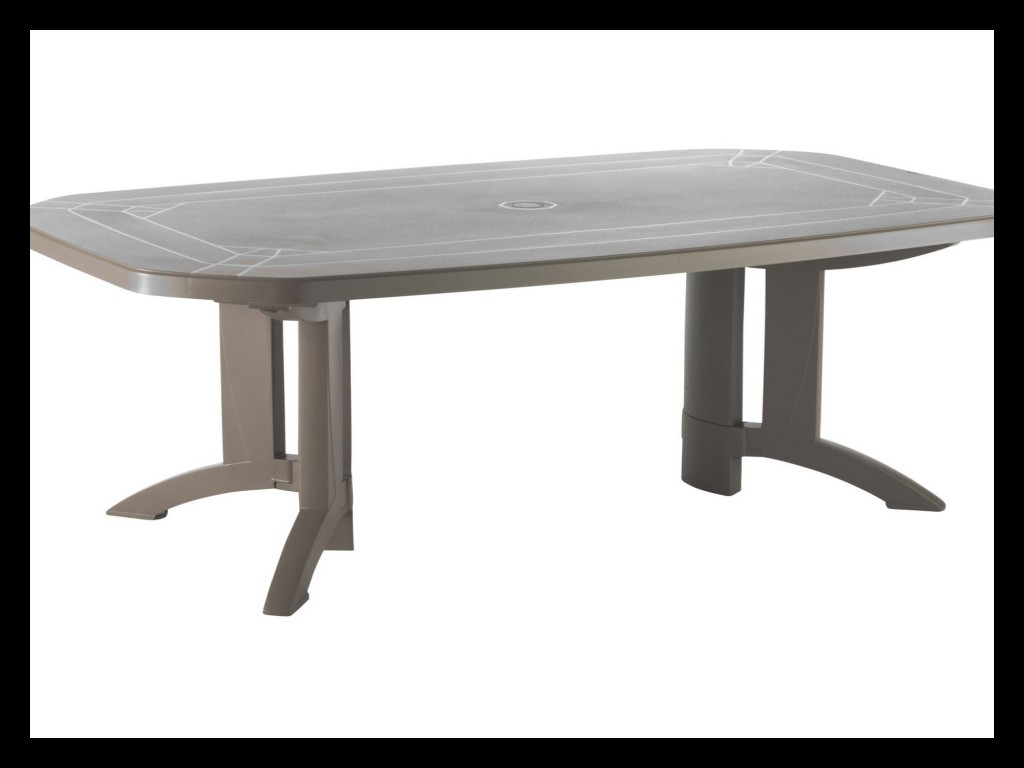 table de jardin vega 6 decor mozaic verte grosfillex