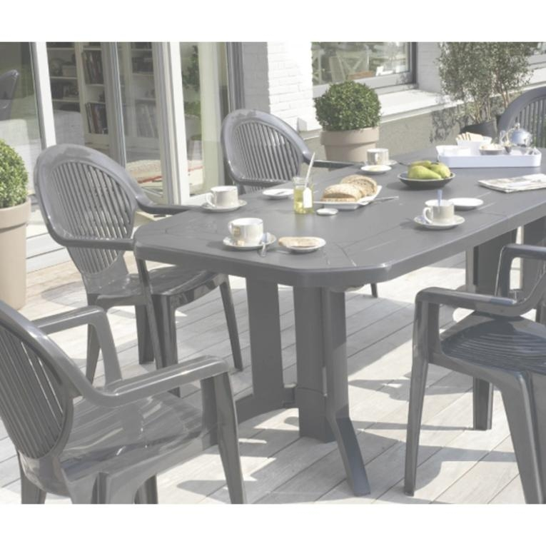 table de jardin vega blanc