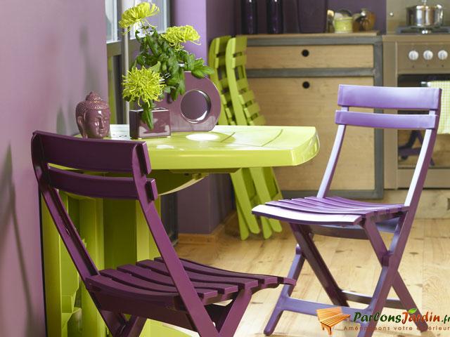 table de jardin vega pliante