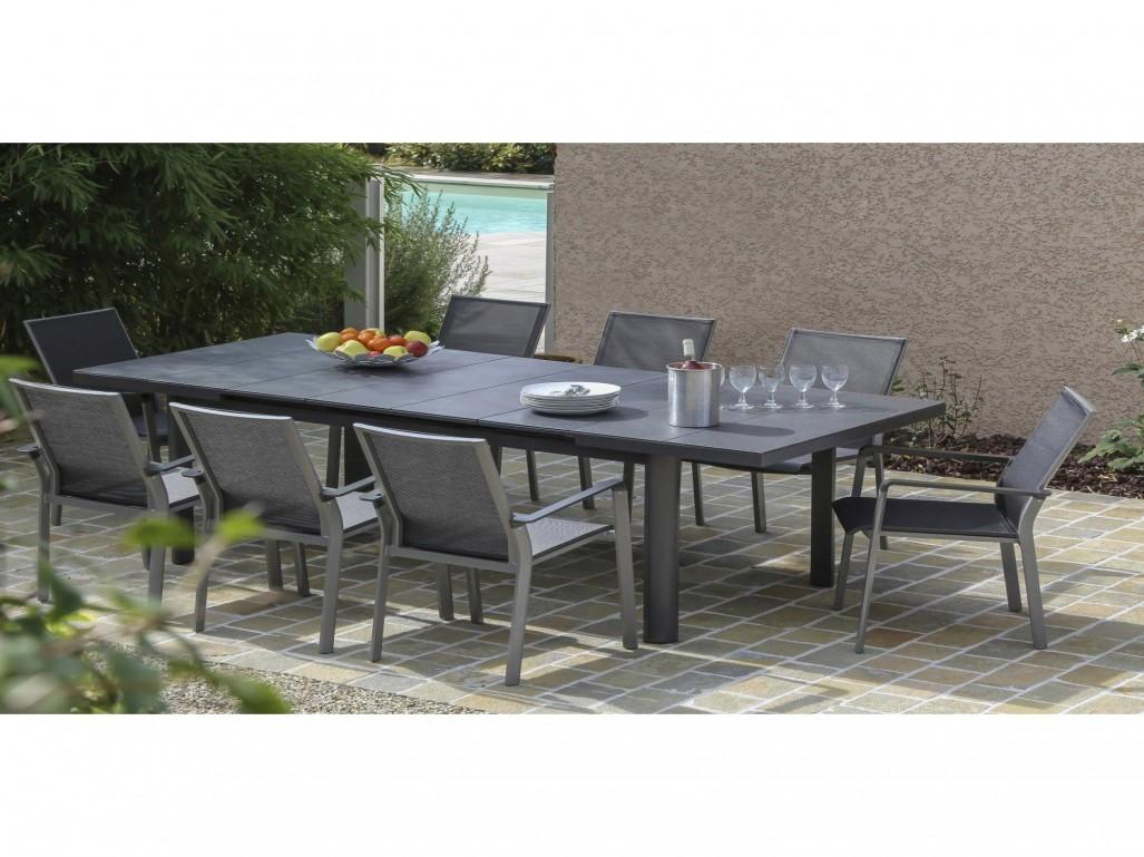 table de jardin verre leroy merlin