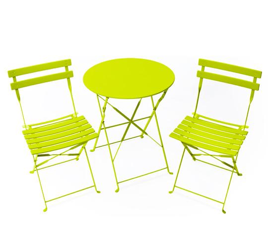 table de jardin vert anis