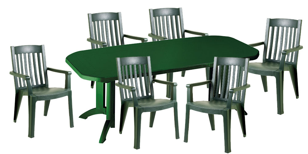 table de jardin verte grosfillex