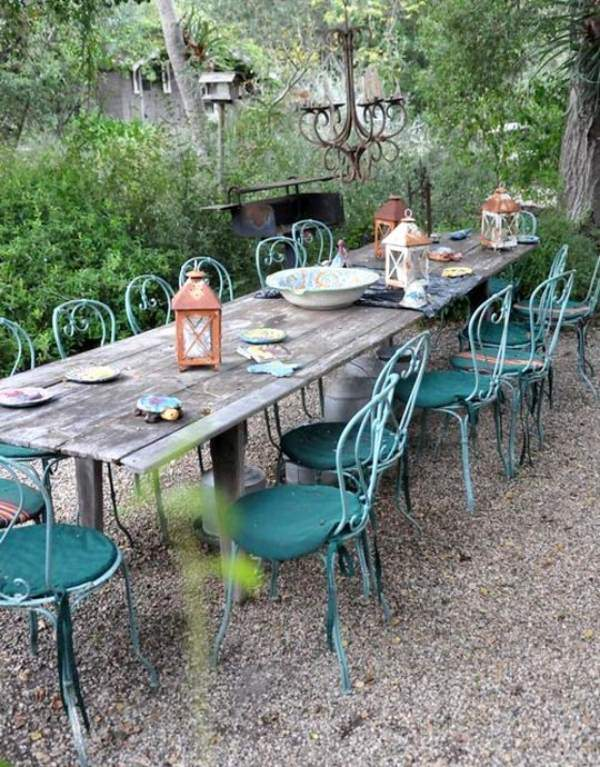 table de jardin vintage