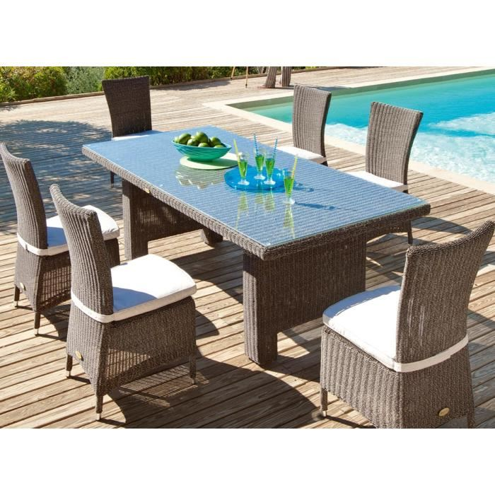 table de jardin wicker