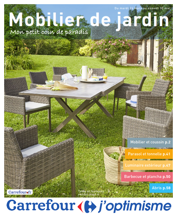 table de jardin zellige carrefour