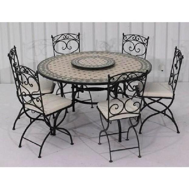 table de jardin zellige pas cher