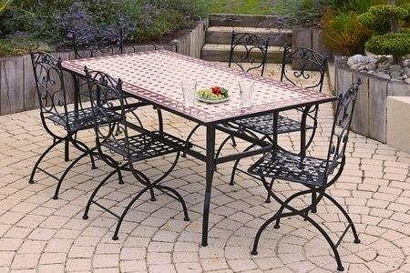 Table Mosaique Pas Cher.Table De Jardin Zellige Pas Cher