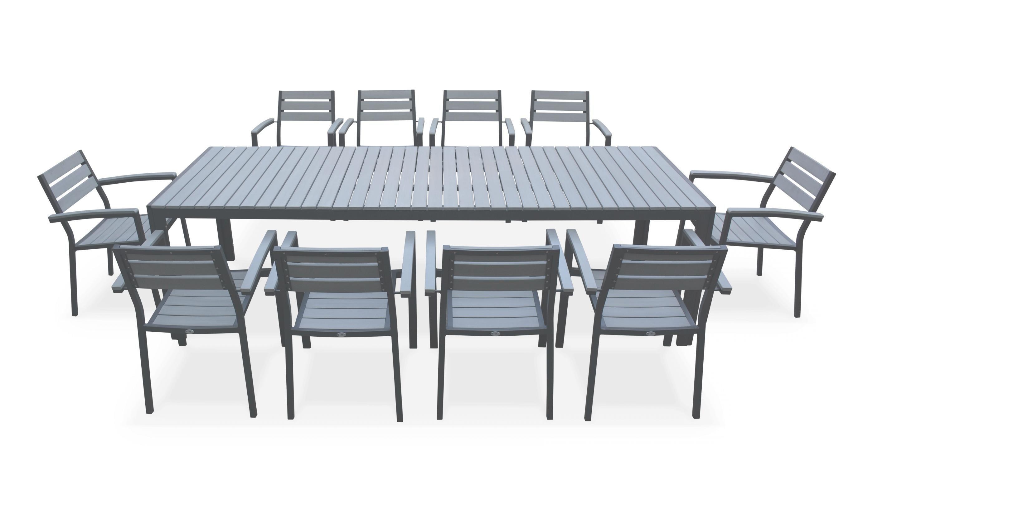 salon de jardin 10 personnes aluminium
