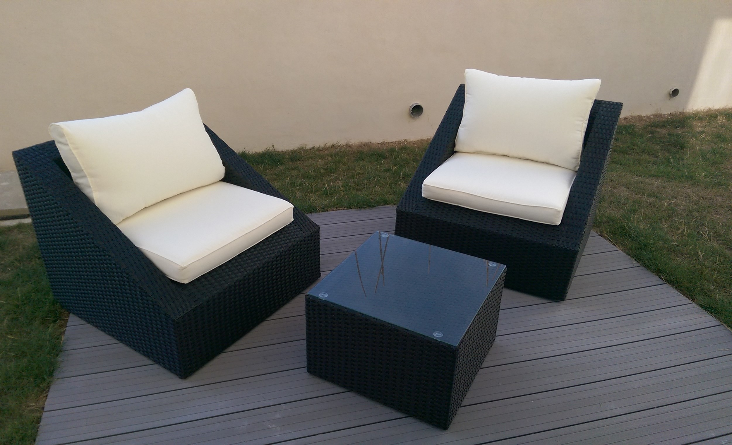 salon de jardin 2 places resine tressee wicker