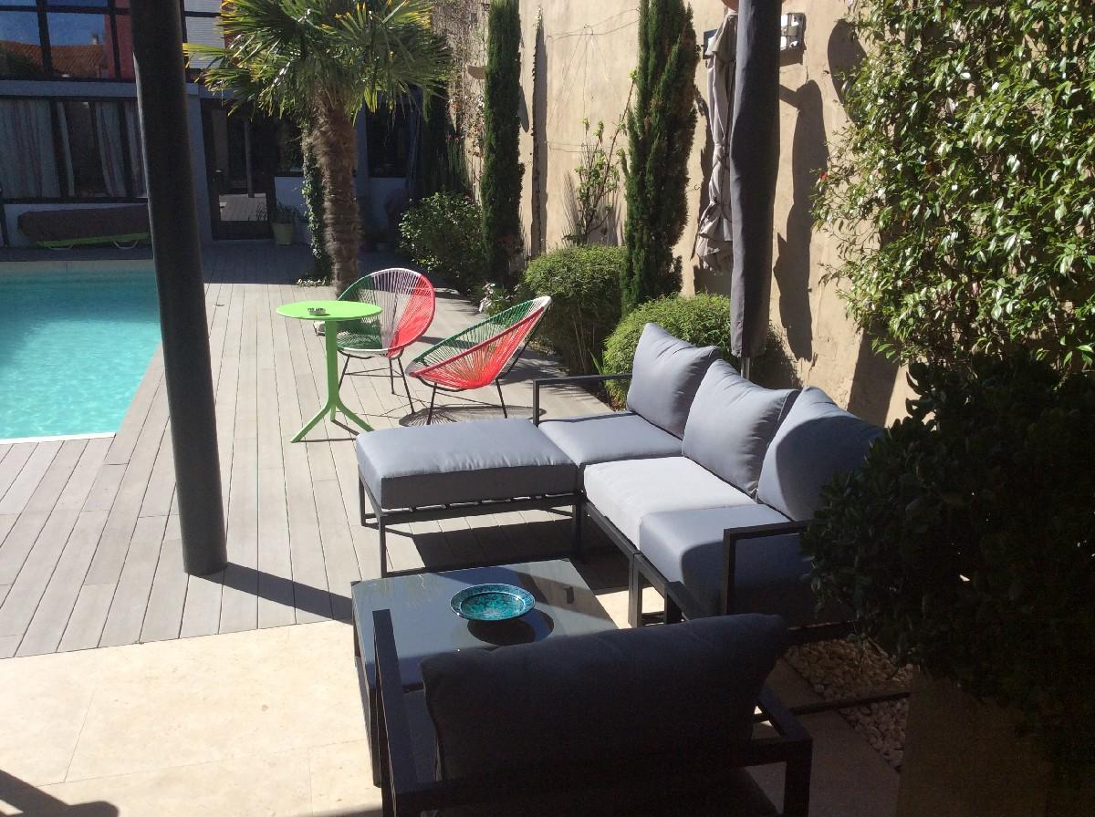 salon de jardin 5 places acatium en aluminium