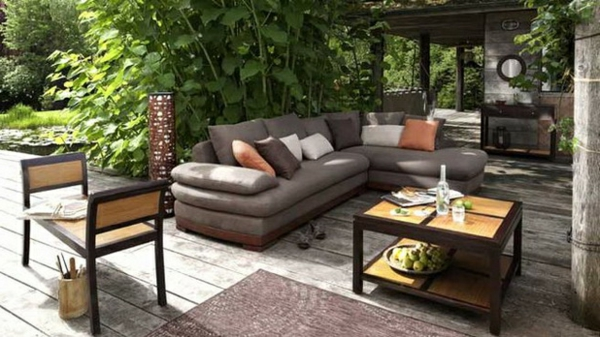 salon de jardin confortable