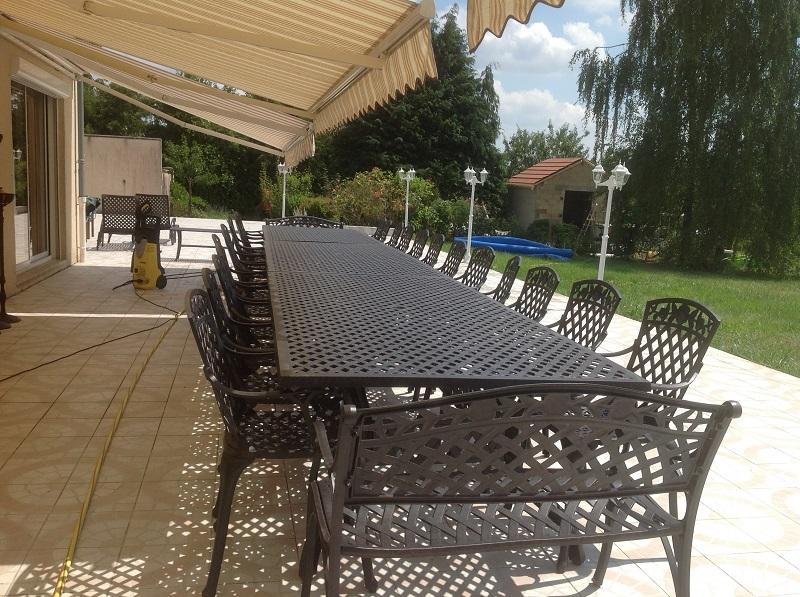 salon de jardin grande table