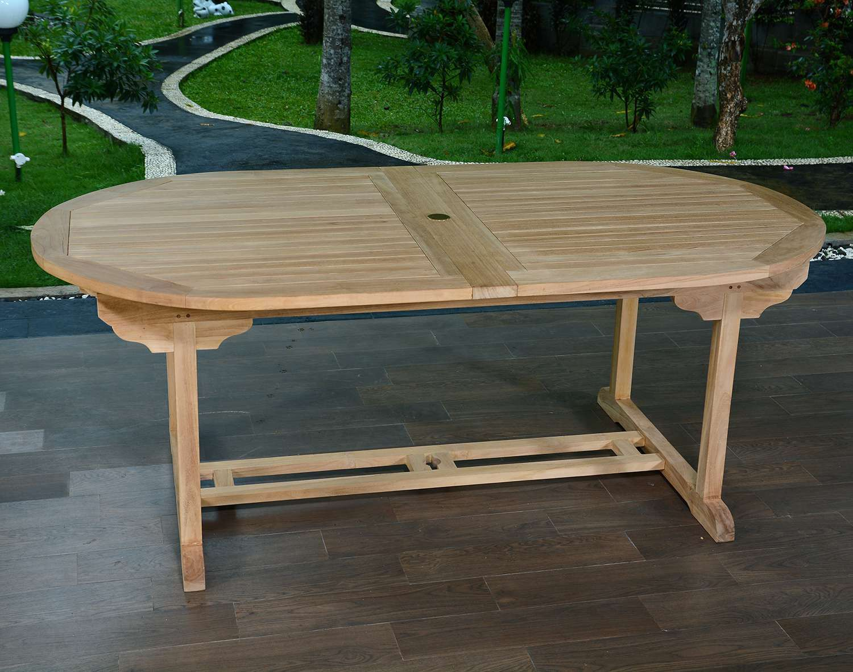 table de jardin 300 cm ovale