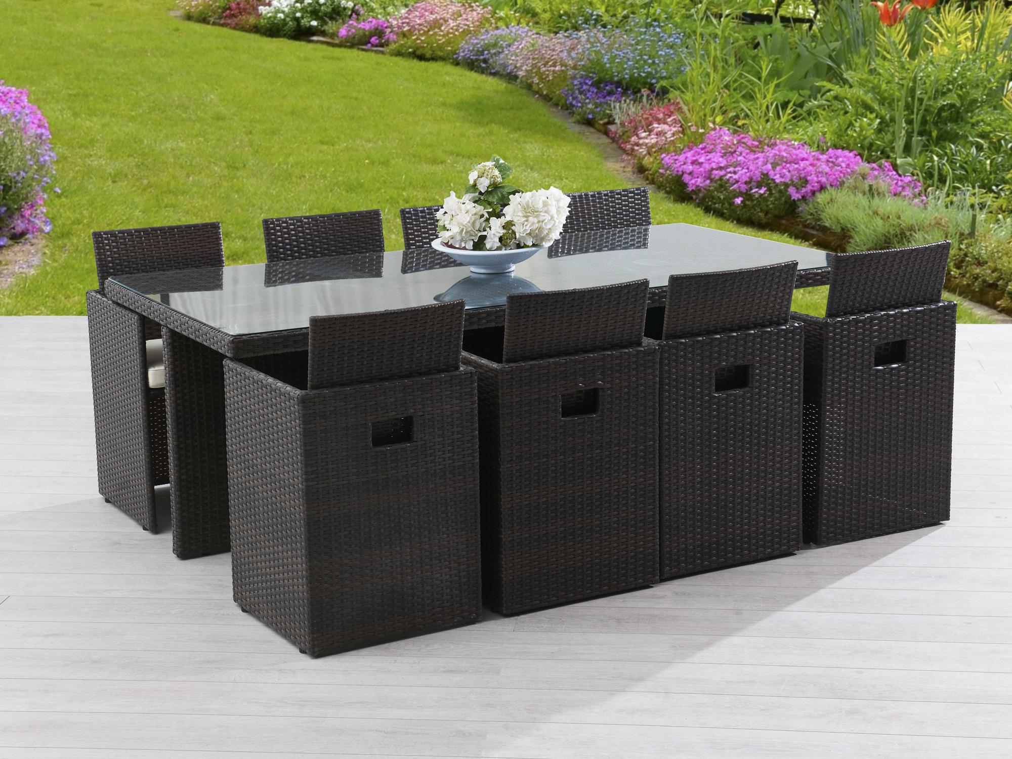 table de jardin 8 personnes en resine