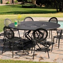 table de jardin en acier inoxydable