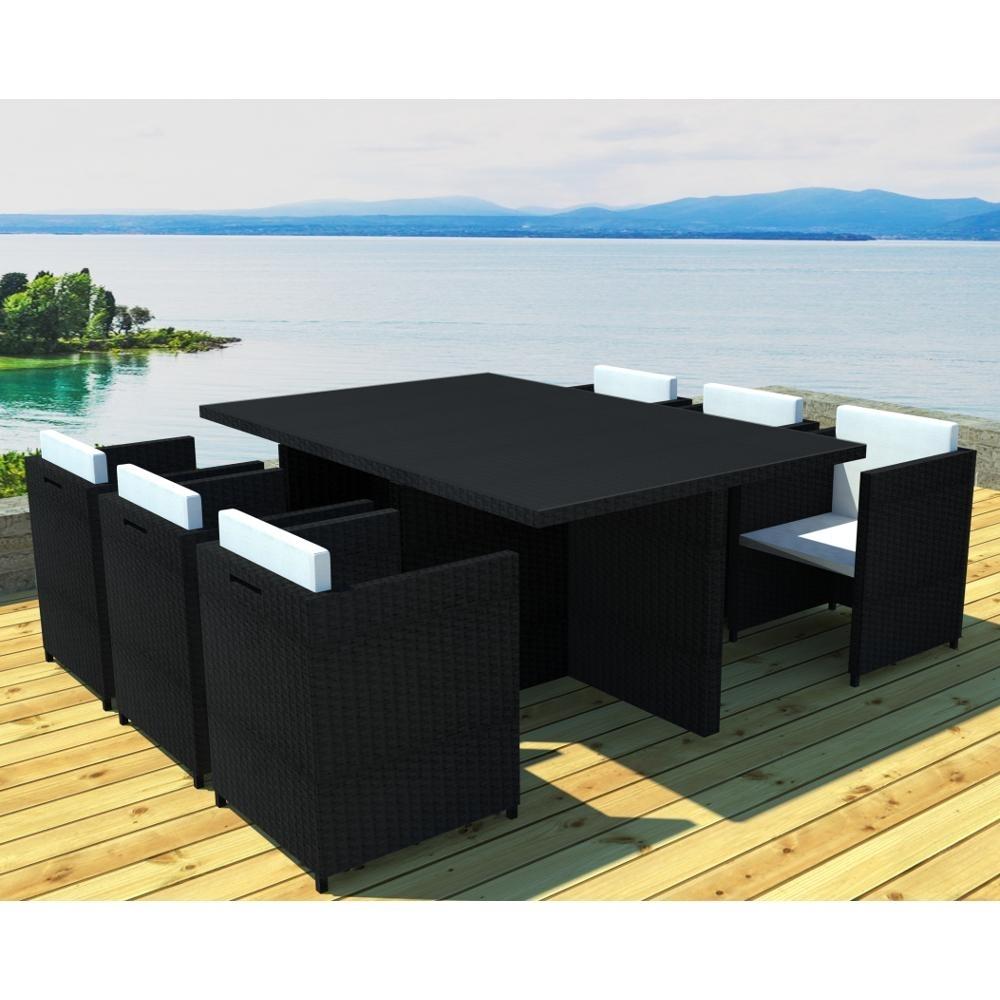 table de jardin encastrable 6 places