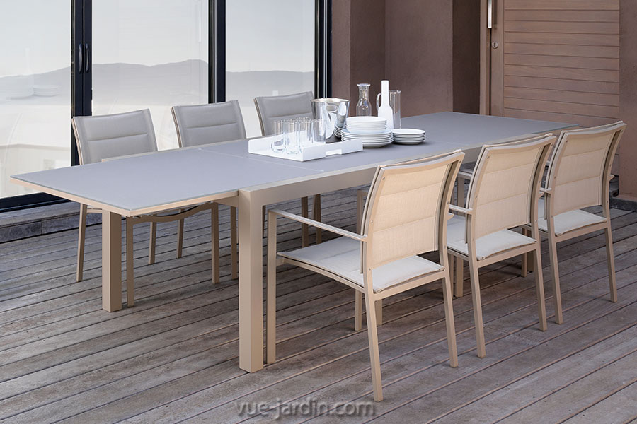 table de jardin extensible 10 personnes