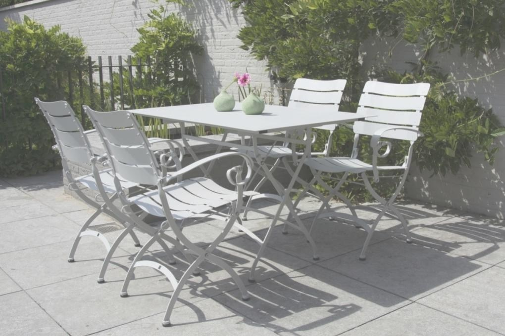 table de jardin fer forge rectangulaire
