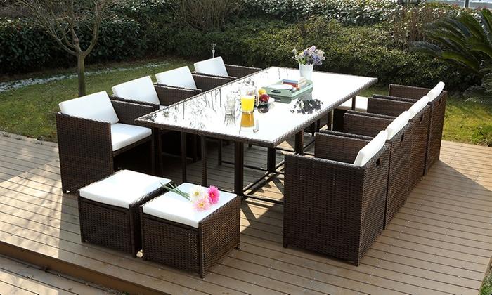 table de jardin groupon