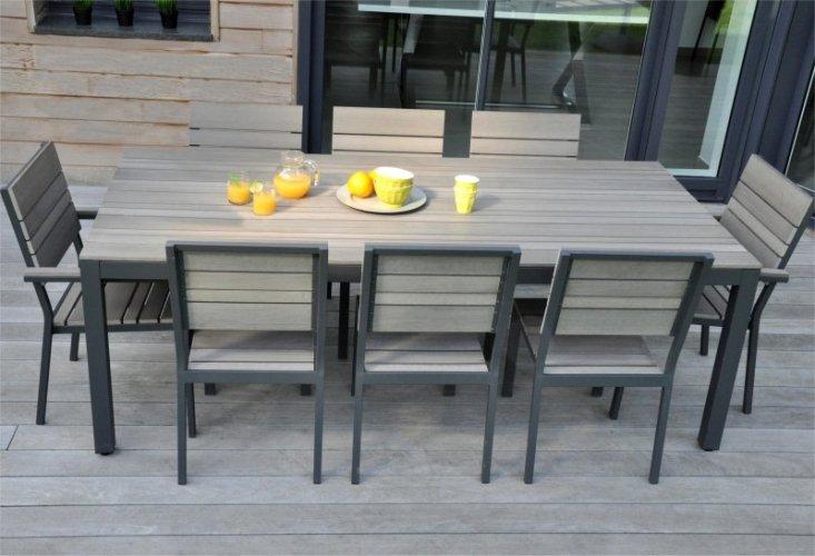 table de jardin ovale en aluminium