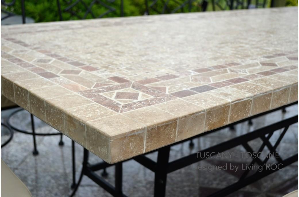 table de jardin pierre