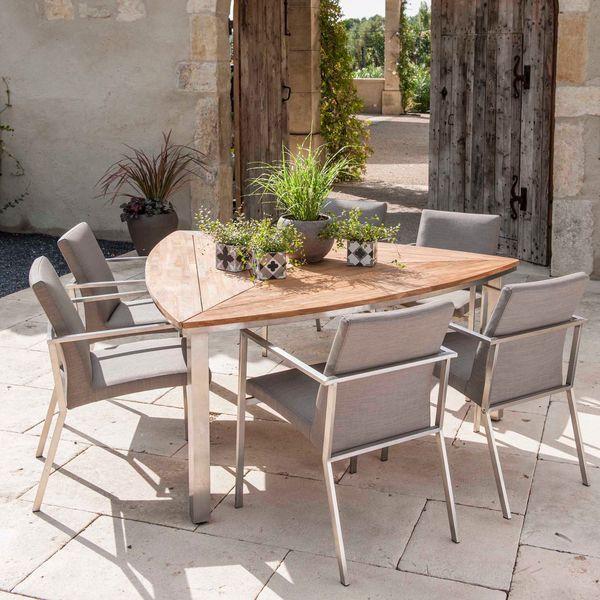 table de jardin triangulaire