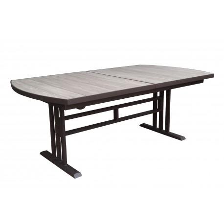 table de jardin twig rectangulaire en hpl